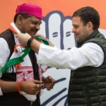 New Delhi: Cricketer turned politician Kirti Azad joins Congress in presence of party president Rahul Gandhi in New Delhi on Feb 18, 2019. (Photo: IANS) by .