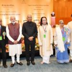 New Delhi: President Ram Nath Kovind, Prime Minister Narendra Modi and Union Culture Minister Mahesh Sharma with the awardees of Tagore Award for Cultural Harmony for the years 2014, 2015 and 2016; in New Delhi, on Feb 18, 2019. (Photo: IANS/PIB) by .