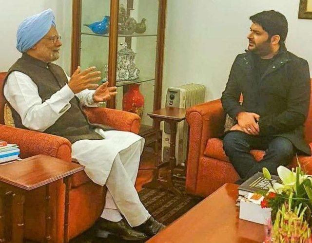 New Delhi: Comedian-actor-producer Kapil Sharma meets Former Prime Minister Manmohan Singh in New Delhi, on Feb 5, 2019. (Photo: Twitter/@KapilSharmaK9) by .