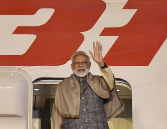 New Delhi: Prime Minister Narendra Modi emplanes for Seoul on a 2-day State Visit to the Republic of Korea, in New Delhi on Feb 20, 2019. (Photo: IANS/MEA) by .