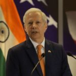 New Delhi: US Ambassador to India Kenneth I. Juster addresses during the 242nd anniversary celebrations of the Independence of the United States of America; in New Delhi on Aug 2, 2018. (Photo: Amlan Paliwal/IANS) by .