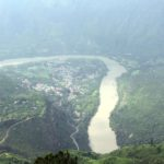 Shimla: An aerial view of Sutlej river. National Thermal Power Corporation (NTPC) is set to commission the 800-MW Kol Dam, its first hydropower project, on the Sutlej river. The project would add another 366.48 million units of electricity every year to the state's power kitty as it would get 12 per cent free power share out of the 3,054 million units of electricity that the project will be generating every year. (Photo: IANS) by .