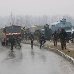 Pulwama: The site on on the Srinagar-Jammu highway where 20 Central Reserve Police Force (CRPF) troopers were killed and 15 others injured in an audacious suicide attack by militants in Jammu and Kashmir's Pulwama district on Feb 14, 2019. All the injured have been shifted to the Army's Base Hospital in Srinagar. (Photo: IANS) by .
