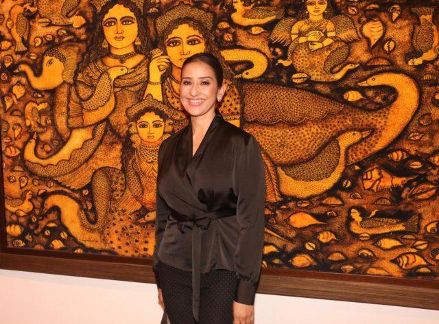 Mumbai: Actress Manisha Koirala during the inauguration of art show