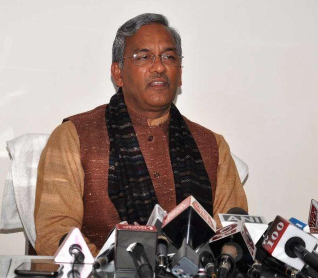 Dehrdun: Uttarakhand Chief Minister Trivendra Singh Rawat addresses a press conference in Dehradun on Jan 2, 2019. (Photo: IANS) by .