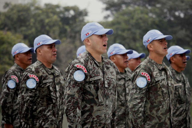PERU-LIMA-UN-MILITARY-CEREMONY by .