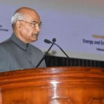 """New Delhi: President Ram Nath Kovind addresses at the inauguration of the International Conference and Exhibition on """"Energy and Environment : Challenges and Opportunities"""" (ENCO-2019) in New Delhi, on Feb 20, 2019. (Photo: IANS/RB) by ."""