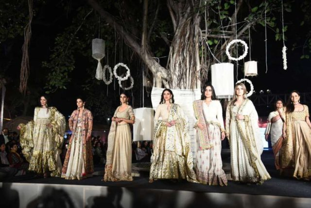 New Delhi: Actress Aditi Rao Hydari walks on the ramp for fashion designers Abu Jani and Sandeep Khosla' show Khadi Goes Global - celebrate 100 years of Khadi, in New Delhi on Feb. 21, 2019. (Photo: IANS) by .