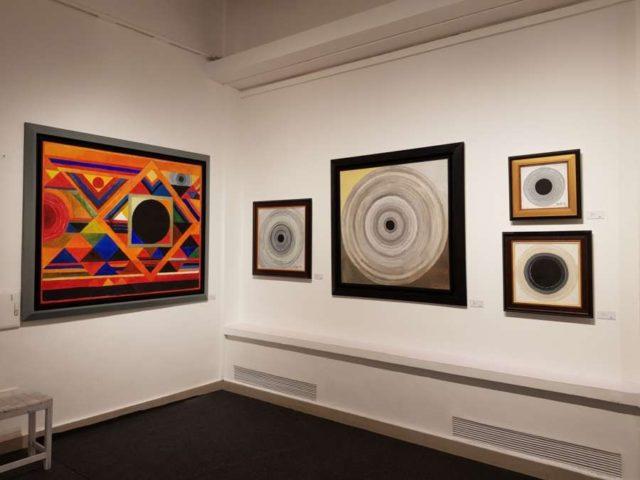 New Delhi: Paintings of painter Sayed Haider Raza exhibited at