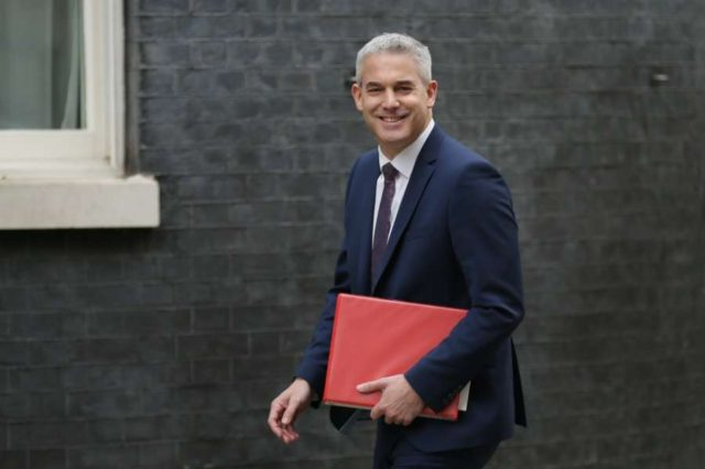LONDON, Nov. 26, 2018 (Xinhua) -- British Secretary of State for Exiting the European Union (EU) Stephen Barclay arrives for a cabinet meeting at 10 Downing Street in London, Britain, on Nov. 26, 2018. The British parliament's vote on Brexit deal is expected to be held on Dec. 11, British Prime Minister Theresa May confirmed on Monday. (Xinhua/Tim Ireland/IANS) by .