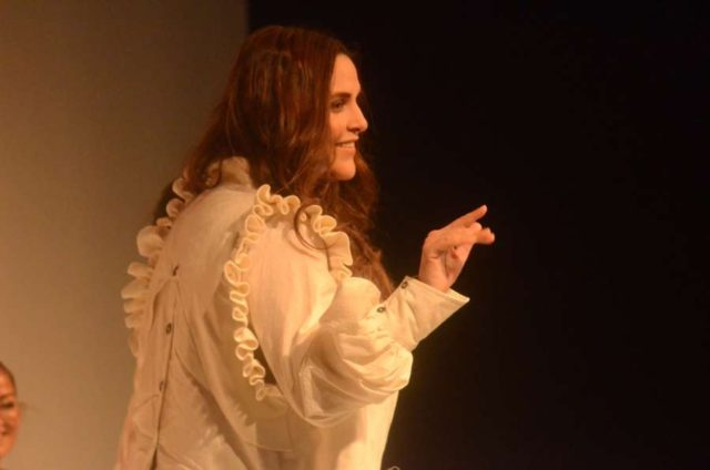 Mumbai: Actress Neha Dhupia during Circular Design Challenge - organised in collaboration with UN Environment - at Lakme Fashion by .