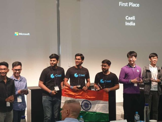 Sydney: The winning team from Faridabad-based Manav Rachna Institute of Research and Studies at Microsoft Imagine Cup 2019 in Sydney on Feb. 12, 2019. (Photos: IANS) by .