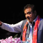 Patna: BJP MP Shatrughan Sinha during a meeting of the Rashtra Manch, in Patna on April 21, 2018. (Photo: IANS) by .