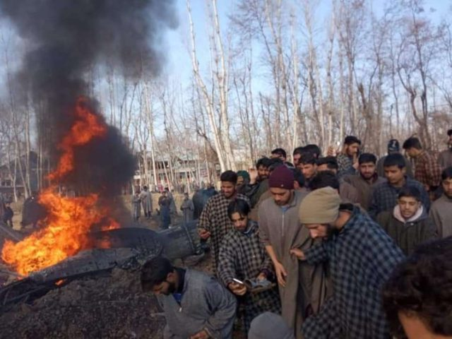 Budgam: Debris of an aircraft that crashed in Budgam district of Jammu and Kashmir on Feb 27, 2019. (Photo: IANS) by .