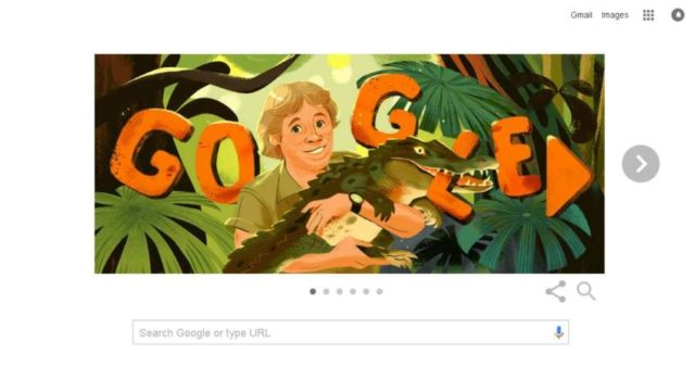 Google remembers 'Crocodile Hunter' Steve Irwin on his birthday with Google Doodle. by .