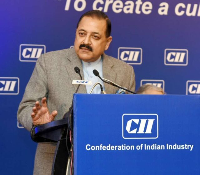 New Delhi: Union Minister Jitendra Singh addresses at the inaugural session of the Summit on