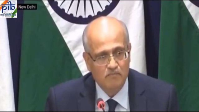 New Delhi: Foreign Secretary Vijay Gokhale during a press briefing in New Delhi on Feb 26, 2019. (Screen Grab: PIB) by .