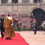 New Delhi: Saudi Crown Prince Mohammed bin Salman inspects the Guard of Honour during a ceremonial reception organised for him at Rashtrapati Bhawan in New Delhi, on Feb 20, 2019. (Photo: IANS/MEA) by .