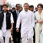 Lucknow: Congress leaders Rahul Gandhi, Priyanka Gandhi Vadra and Jyotiraditya Scindia arrive in Lucknow on Feb 11, 2019. (Photo: IANS/AICC) by .