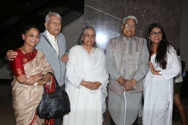 Mumbai: Veteran actors Seema Deo, Ramesh Deo, Shubha Khote, Viju Khote and Bhavana Balsavar at the inauguration of ActFest, which is organised by Cine and TV Artistes' Association (Cintaa) and 48 Hour Film Project, in Mumbai on Feb 15, 2019. (Photo: IANS) by .