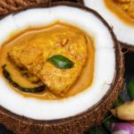 Fish curry with coconut milk. by .