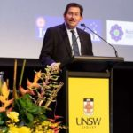 UNSW Sydney President and Vice-Chancellor Ian Jacobs introduces the Gandhi Oration by Tim Costello. (Photo courtesy: Jacquie Manning/UNSW) by .
