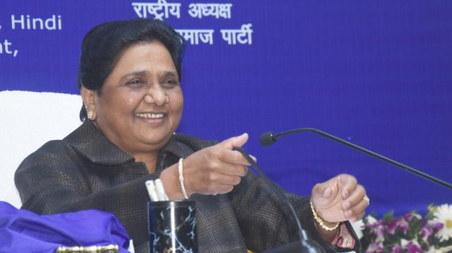 Lucknow: BSP President Mayawati addresses at the release of her book