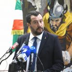 TUNIS, Sept. 27, 2018 (Xinhua) -- Italian Interior Minister Matteo Salvini attends a press conference with Tunisian Interior Minister Hichem Fourati (not in the picture) in Tunis, Tunisia, on Sept. 27, 2018. Italy will make efforts to halt illegal immigration from Tunisia by boosting investment in the country to eliminate the root causes of illegal immigration, Salvini said Thursday. (Xinhua/Adele Ezzine/IANS) by .