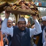 Ajmer: Union Minority Affairs Minister Mukhtar Abbas Naqvi arrives at Sufi Saint Khwaja Moinuddin Chishti's shrine, to offer the ceremonial 'chadar' on behalf of Prime Minister Narendra Modi in Ajmer, on March 6, 2019. (Photo: IANS) by .