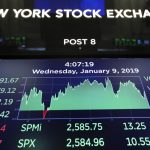 NEW YORK, Jan. 9, 2019 (Xinhua) -- An electronic screen shows the trading information at the New York Stock Exchange in New York, the United States, Jan. 9, 2019. U.S. stocks closed higher on Wednesday after the summary of Federal Reserve's meeting held in December showed the central bank is patient on rate hikes. The Dow Jones Industrial Average increased 91.67 points, or 0.39 percent, to 23,879.12. The S&P 500 was up 10.55 points, or 0.41 percent, to 2,584.96. The Nasdaq Composite Index was up 60.08 points, or 0.87 percent, to 6,957.08. (Xinhua/Wang Ying/IANS) by .