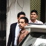 New Delhi: Robert Vadra, brother-in-law of Congress President Rahul Gandhi arrives to appear before Enforcement Directorate (ED) in connection with a money laundering case in New Delhi on Feb 20, 2019. (Photo: IANS) by .