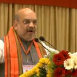 Nizamabad: BJP chief Amit Shah addresses a party meeting in Telangana's Nizamabad, on March 6, 2019. (Photo: IANS/BJP) by .