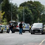 CHRISTCHURCH, March 15, 2019 (Xinhua) -- Police are seen at a road block in Christchurch, New Zealand, March 15, 2019. At least 27 people were killed in multiple shootings in the two mosques of New Zealand's Christchurch on Friday afternoon, and police said they have arrested four suspects so far. (Xinhua/Zhu Qiping/IANS) by .