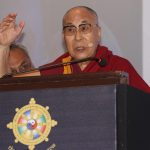 "Bengaluru: Tibetan spiritual leader the Dalai Lama addresses during ""Thank You Karnataka"" an event to mark 60th year of Tibetan arrival to India, in Bengaluru on Aug 10, 2018. (Photo: IANS) by ."