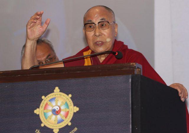 Bengaluru: Tibetan spiritual leader the Dalai Lama addresses during