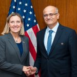 India's Foreign Secretary Vijay Gokhale and Andrea Thompson, the United States Under Secretary of State for Arms Control and International Security headed the Ninth India-US Strategic Security Dialogue on Wednesday, March 13, 2019. (Photo: State Dept./IANS) by .