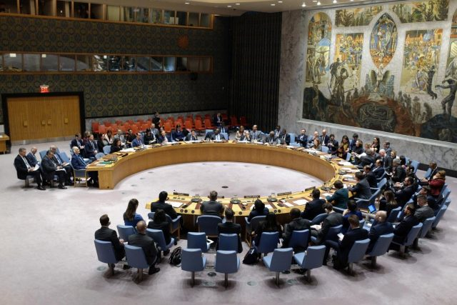 UN-SECURITY COUNCIL-MIDDLE EAST-GOLAN HEIGHTS by LI MUZI.
