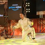 """Mumbai: Actor Akshay Kumar during the digital debut of his upcoming action-packed thriller series """"The End"""" with Amazon Prime Video, in Mumbai, on March 5, 2019. (Photo: IANS) by ."""