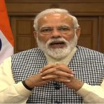 New Delhi: Prime Minister Narendra Modi addresses after launching a bus service with Bangladesh Prime Minister Sheikh Hasina via video conferencing in Bangladesh, in New Delhi on March 11, 2019. (Photo: IANS/BJP) by .