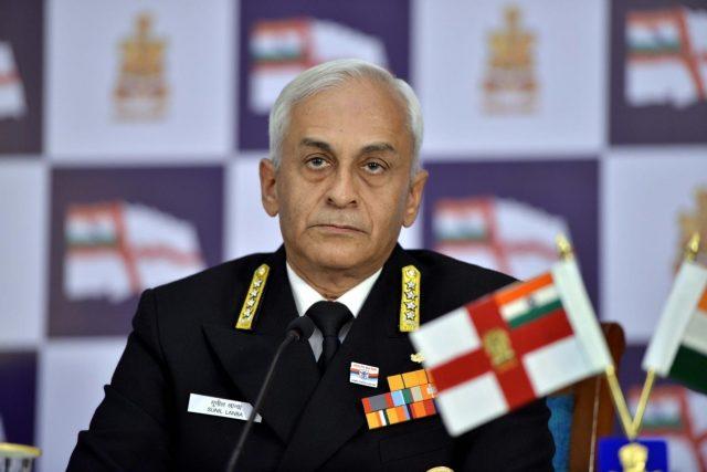 Navy chief Admiral Sunil Lanba. (File Photo: IANS) by .