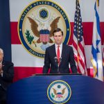 JERUSALEM, May 14, 2018 (Xinhua) -- U.S. President Donald Trump's senior adviser and son-in-law Jared Kushner speaks during the inauguration ceremony of the new U.S. embassy in Jerusalem, on May 14, 2018. The inauguration ceremony of the new U.S. embassy in Jerusalem started on Monday afternoon, as Israeli and U.S. officials gathered in the city amidst deadly clashes in the Gaza Strip. (Xinhua/JINI/IANS by .