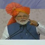 Vastral: Prime Minister Narendra Modi addresses at the inauguration of various development projects in Vastral, Gujarat, on March 5, 2019. (Photo: IANS/BJP) by .