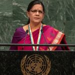 Mala Dutt ,Additional Secretary in India's Ministry of Defence, addresses the United Nations Peacekeeping Ministerial meeting on Friday, March 29, 2019. (Photo: India Mission/IANS) by .