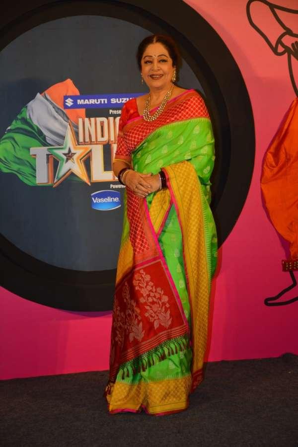 "Mumbai: Actress Kirron Kher at the launch of reality show ""India's Got Talent"" in Mumbai on Oct 13, 2018. (Photo: IANS) by ."