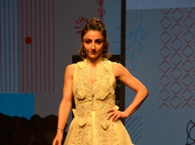 Mumbai: Actress Soha Ali Khan walks the ramp showcasing the creations of fashion designer Neha Agarwal at the Lakme Fashion Week (LFW) Summer/Resort 2019 in Mumbai on Feb 3, 2019. (Photo: IANS) by .