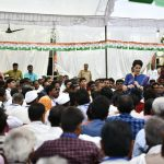 Amethi: Congress General Secretary Priyanka Gandhi interacts with party workers during a party meeting at Musafirkhana in Uttar Pradesh's Amethi on March 27, 2019. (Photo: IANS) by .