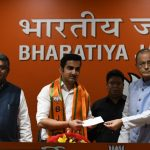 New Delhi: Former cricketer Gautam Gambhir joins BJP in the presence of Union Ministers and party leaders Ravi Shankar Prasad and Arun Jaitley, in New Delhi on March 22, 2019. (Photo: IANS) by .