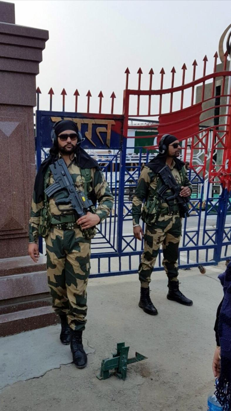 Attari (Punjab): Security beefed up at at the Attari Joint Check Post (JCP) in Punjab where a large number of people have assembled to greet Indian Air Force (IAF) pilot Abhinandan Varthaman who is likely to be released by Pakistani authorities later in the day, on March 1, 2019.The 35-year-old Wing Commander was captured on Wednesday by Pakistan after his MiG-21 Bison fighter jet was hit by Pakistan Air Force jets near the Line of Control (LoC) in Jammu and Kashmir. (Photo: IANS) by .