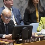 French Foreign Minister Jean-Yves Le Drian presides over a meeting of the United Nations Security Council on combating the financing of terrorism on Thursday, March 28, 2019. (Photo: UN/IANS) by .