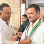 Bengaluru: Congress president Rahul Gandhi being welcomed by Karnataka party president Dinesh Gundu Rao on his arrival to meet and interact with the employees of the state-run Hindustan Aeronautics Ltd (HAL), in Bengaluru on Oct 13, 2018. (Photo: IANS) by .